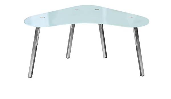 Mesa de Escritorio modelo Polaris cristal glaseado cromada: Amazon ...