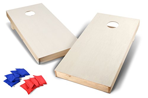 Backyard Champs 2' x 4' Wood Cornhole Set (8 Regulation Bags Included) ()