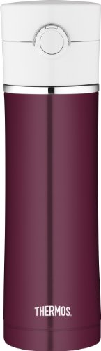 Thermos 16 Ounce Stainless Steel Vacuum Insulated Drink Bottle, Burgundy