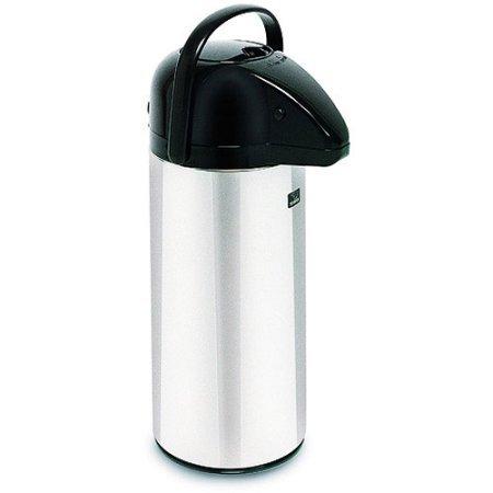 (BUNN 2.2 Liter Push-Button Airpot, Glass Lined, 28696.0002, Stainless Steel)