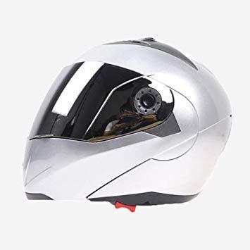Uniqus JIEKAI 105 Full Face Helmet Electromobile Motorcycle Double Lens Predective Helmet, Size  M (Sliver+Sliver)