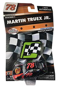 NASCAR Authentics Martin Truex Jr. #78 Diecast Car 1/64 Scale - 2018 Wave 11 - with Die-Cut Magnet - Collectible ()