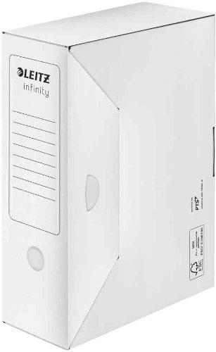 Leitz - Juego de cajas archivadoras (20 unidades automático infinity sin ácido lomo 100 mm blanco: Amazon.es: Oficina y papelería