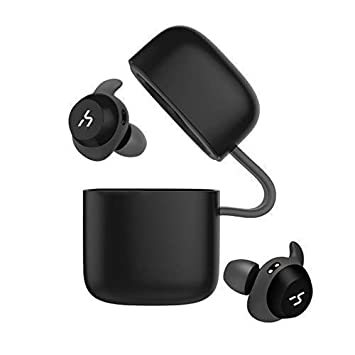 HAVIT TWS - Auriculares Inalámbricos 21 Horas Auriculares Bluetooth con Cargador Portátil Soporte de Inteligencia Artificial y Resistente al Agua (Negro): ...