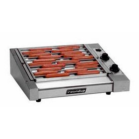 Roundup HDC-30A Hot Dog Grill for 30 quarter-lb. hot dogs at a time or 300 1/10-