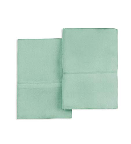 Pizuna 400 Thread Count Cotton Queen Pillowcases Sage, Pillo