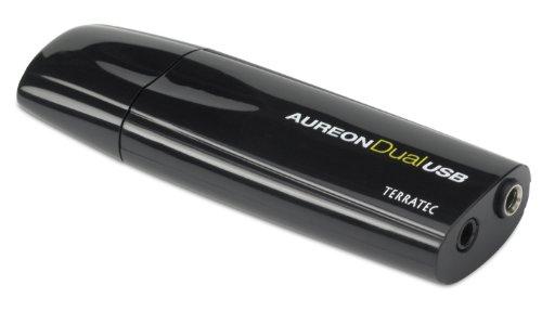 TerraTec AureonDualUSB ultrakompakte Soundkarte in USB-Stick-Bauweise mit Stereo-Ausgang, optischem Digitalausgang und Mikrofoneingang