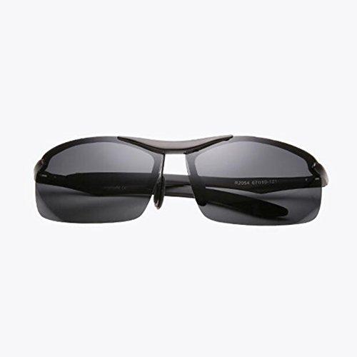 Black y polarizadas hombres frame Gafas HD HONEY aluminio pesca de Color aviación profesional Marco de magnesio frame sol para para Lente de Black q1CnW6Wpw