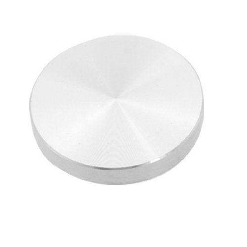 Top Glass Dia (uxcell Aluminum Circle Disc Glass Top Adapter 2 Inch x 3/10 Inch Silver Tone)