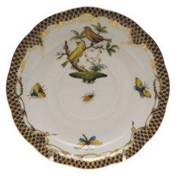 Herend Rothschild Bird Brown Tea Saucer Motif #6