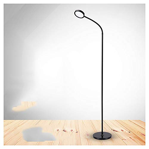 - Ho,ney Floor Lamp- Fixture Uplight Lamp, Black/White Incandescent Lamp, Brushed Steel Lamp Oil Rubbed Bronze - Reading torchiere