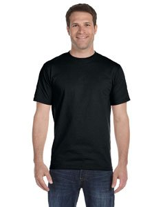 Gildan Adult 5.6 oz 50/50 Short Sleeve T-Shirt in Black - X-Large - Adult Short Sleeve Black T-shirt
