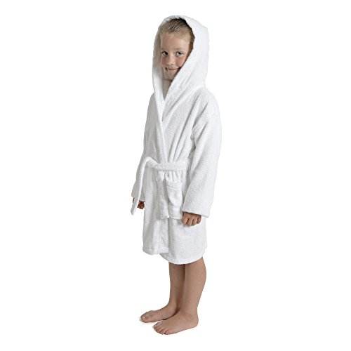 84107917ef Children Dressing Gown Kids Boys Girls Hooded Towelling Bathrobe 100% Cotton  Terry Towel Soft Towlling 7-13 Years - Buy Online in Oman.