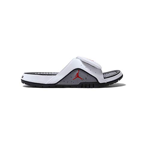 Jordan Nike Men's Hydro IV Retro White/Fire Red/Cement Grey/Black 532225-116 (Size: 13) (Retro 13 Cement Grey)