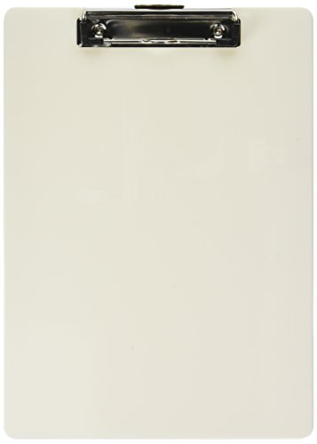 Officemate OIC Recycled Plastic Clipboard, Letter Size, Pearl (83047) ()