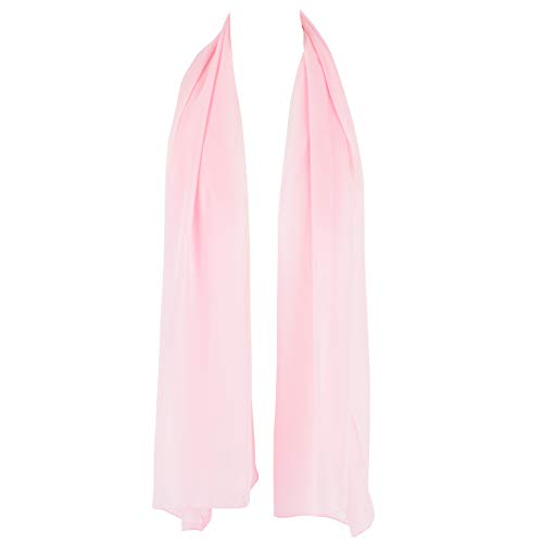 - HatToSocks Chiffon Scarf Sheer Wrap Voile Beach Sarong for Women - Pink