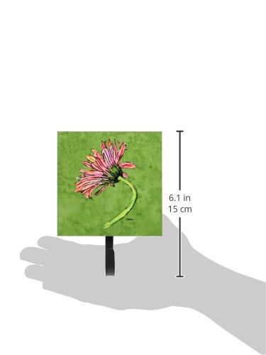 Small Multicolor Carolines Treasures 8853SH4 Gerber Daisy Pink Leash or Key Holder