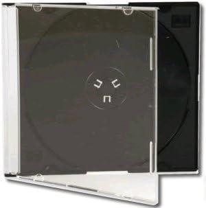 Bulk Jewel Slim - Set de cajas para CD/DVD (100 unidades, 5,2 mm ...
