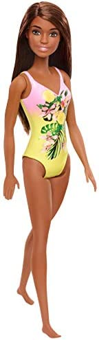 Barbie Doll, Brunette, Wearing Swimsuit, for Kids 3 to 7 Years Old