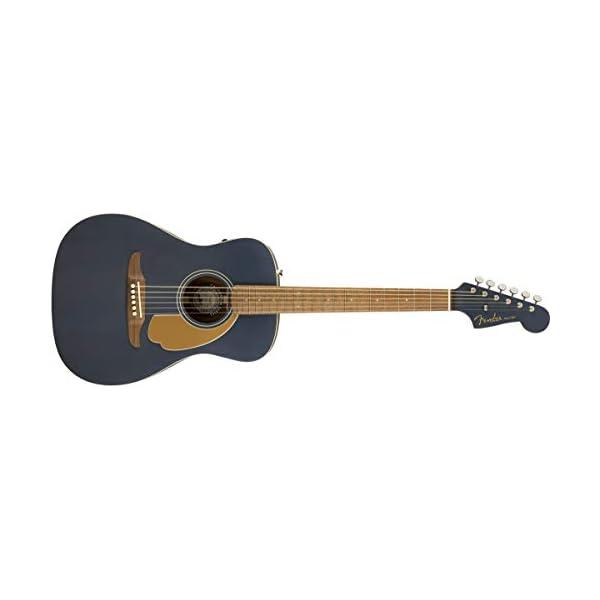 Fender Malibu Player Electro Acoustic, Midnight Satin, Walnut Fingerboard