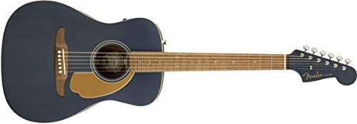 Fender Malibu Player Acoustic Guitar – Midnight Satin – Walnut Fingerboard