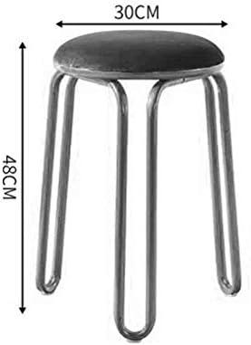 HYL Chaises de Salle à Manger Maquillage Nordique Fer forgé Tabouret Table de Loisirs Ronde et Tabouret Chaise, 30x 30x48cm (Color : #8)