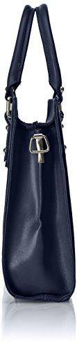 modello Italy in Borsa cartella 100 italiano Made a Blu con Pelle manici Vera donna da xxOYqCFw