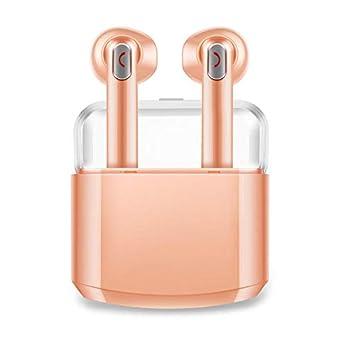 TWS - Auriculares inalámbricos con Bluetooth y Caja de Carga Dorado: Amazon.es: Electrónica