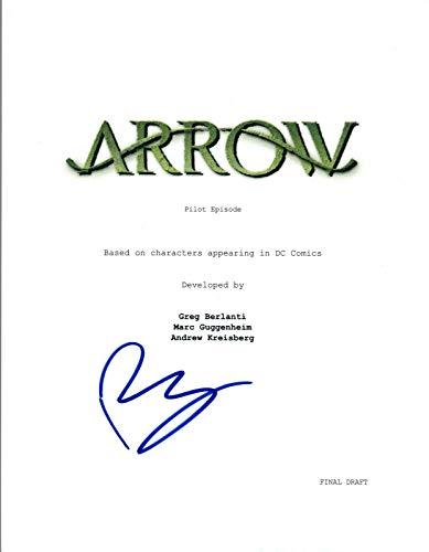 Paul Blackthorne Signed Autographed ARROW Pilot Episode Script COA VD