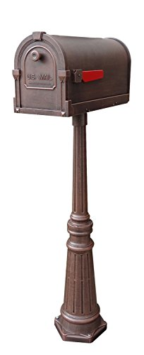 Special Lite SCS-1014-SPK-591-CP Savannah Curbside Mailbox with Tacoma Mailbox P by Special Lite Products Company, Inc.