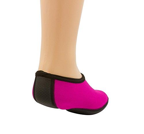Tinton Plage Pieds Nus Aqua Eau Chaussettes Pour Plage Piscine Sable Nager Yoga Ou Gym Rose