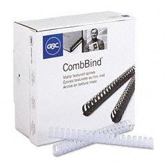 GBC Premium Matte CombBind Binding Spines, 1-Inch Spine Diameter, Frost, 200 Sheet Capacity, 100 Spines (Gbc Matte)