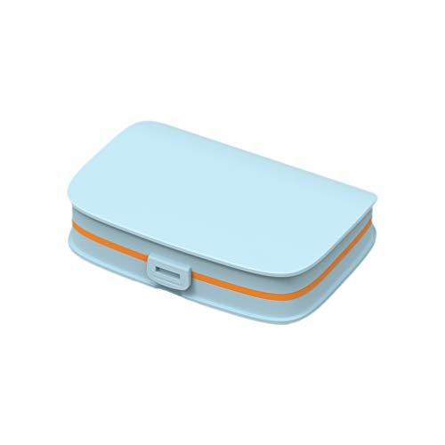 TOPBATHY Pill Box 6 Compartments Medication Reminder Planner Portable Medicine Organizer Pill Organizer for Purse Pocket Home Travel Outdoor
