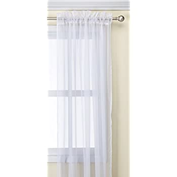 White 63A-43160 Bedford Home Mia Jacquard Grommet Single Curtain Panel 95-Inch