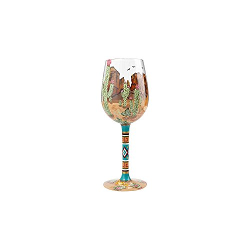 (Enesco Designs by Lolita Southwest Artisan-blown Glass Wine Glass, 15 oz.)