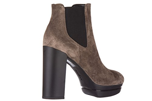 Hogan Damen Wildleder Stiefeletten Stiefel Ankle Boots mit Absatz h299 opty tron