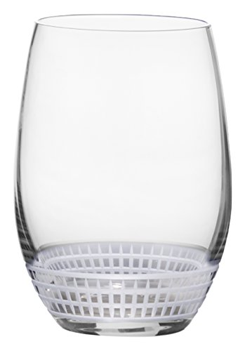 Mikasa Talia Platinum Stemless Wine Glass, 17-Ounce