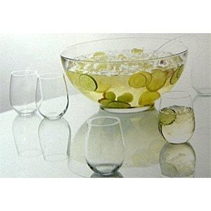 Anchor Hocking Presence 10 Piece Punch Bowl with Ladle and Glasses Set (Anchor Hocking Punch)