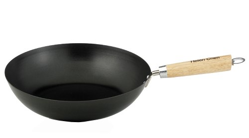 Helen Chen's Asian Kitchen Xylan Nonstick 12-Inch Stir Fry Pan with Wood Handle (Chinese Stir Fry Pan compare prices)