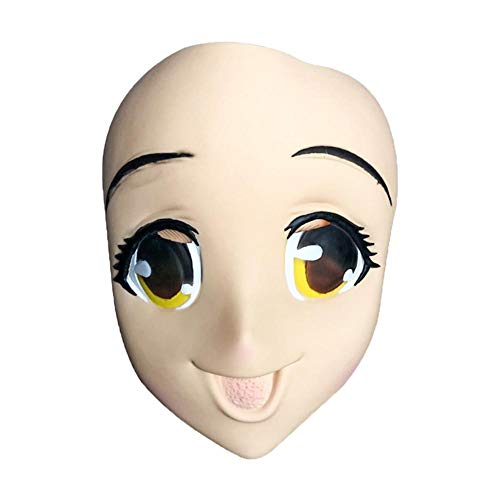 Smartey Big-Eyed Girl Mask 3D Halloween Anime Mask Cosplay Props for Costume Party]()