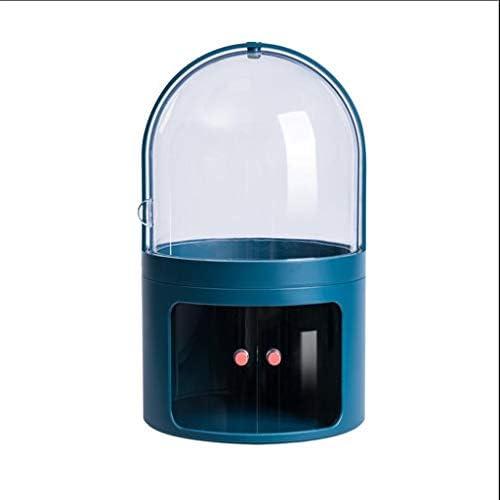 化粧品収納ボックス 蓋付き家庭用プッシュプル化粧品収納ボックス多層大容量透明ラックアクリル防水および防塵 DWWSP (Color : B)