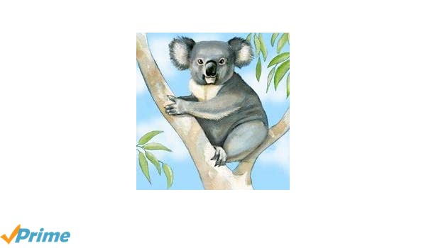 JGS Koala Art Glass Ceramic Tile or Wall Hanging 8 inches by 8 inches