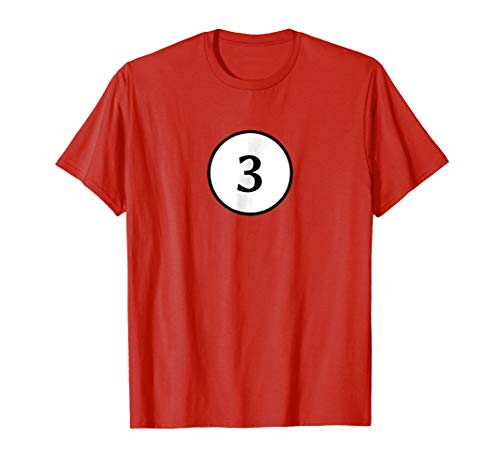 Pool Ball Halloween Costume T-shirt Groups Number 3 -