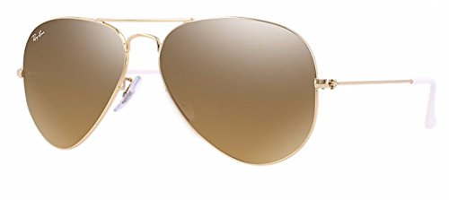 Ray Ban RB3025 001/3K 55M Gold/ Brown Mirror Silver Gradient - Ray Aviator Brown Ban Sunglasses