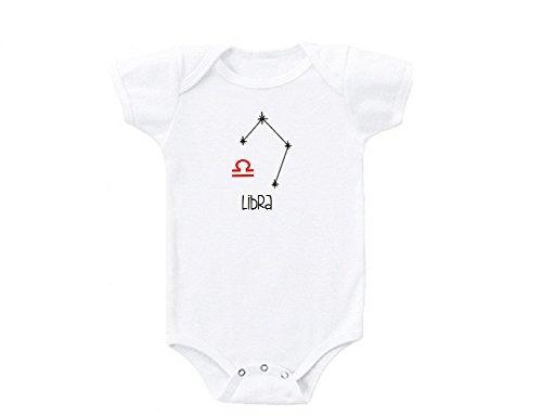 Libra Zodiac Horoscope Sign Cute Funny Baby Onesie Gift Novelty Tshirt Costume Babies Bodysuit (Newborn)