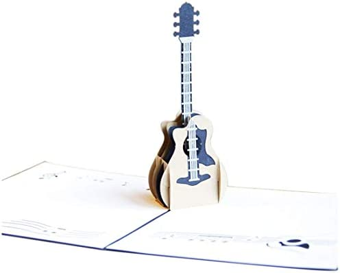 Ogquaton 3D Pop-up Laser Cut Tarjeta antigua Guitarra Postal ...