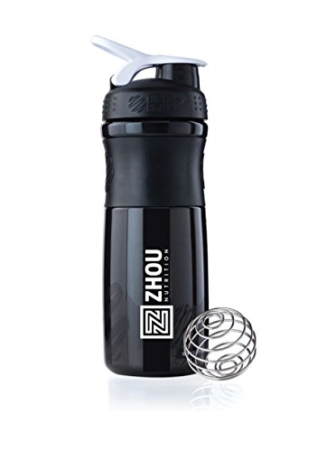 Zhou Nutrition BlenderBottle Sport Mixer, Black/White, 28 oz.