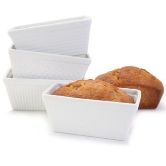 BIA White Porcelain Mini Loaf Pan, Set of 4 by BIA (Image #1)