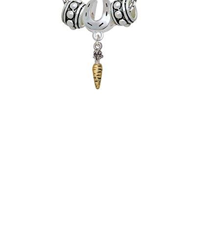 Carrot Horseshoe 3 Bead Necklace
