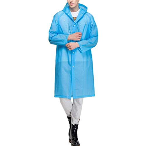 Unisex Moda Ragazzi Con Impermeabile Raincoat Blu All'aperto Classiche Cappuccio Outerwear Antivento Impermeabili Eva Portatile pwdxt4qAp